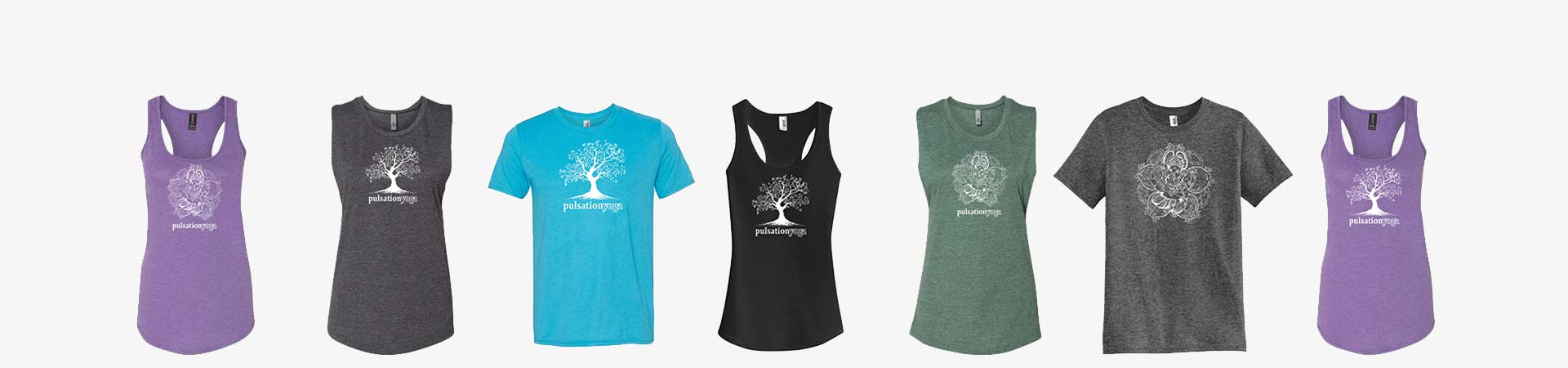 t-shirt styles showing tank, t-shirt and muscle shirts